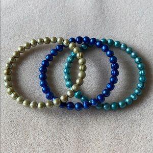 Set of three Honora freshwater pearl bangles